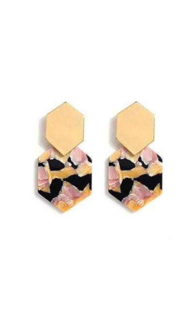 Acrylic Resin Hoop Earrings
