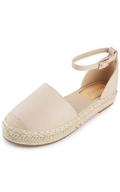 Alexis Leroy Closed Toe Ankle Strap Platform Espadrille Sandals