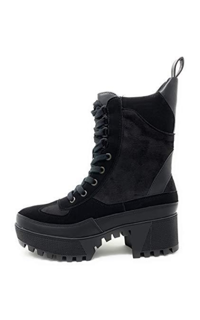 Lace Up Lug Sole Combat Chunky Bootie