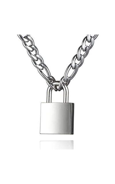 DIBOLA Punk Padlock Necklace