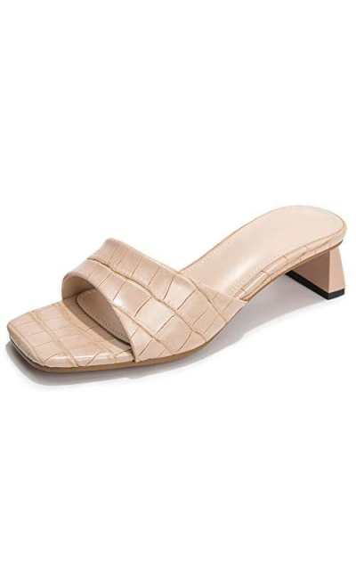 fereshte Square Toe Slide Sandals