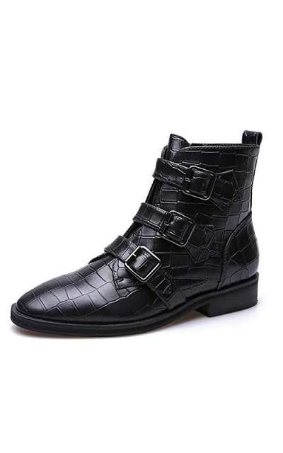 YolandaZula Genuine Leather Crocodile Boots