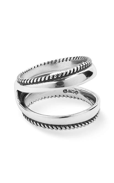 Carolyn Pollack Sterling Silver Rope Edge Guard Ring