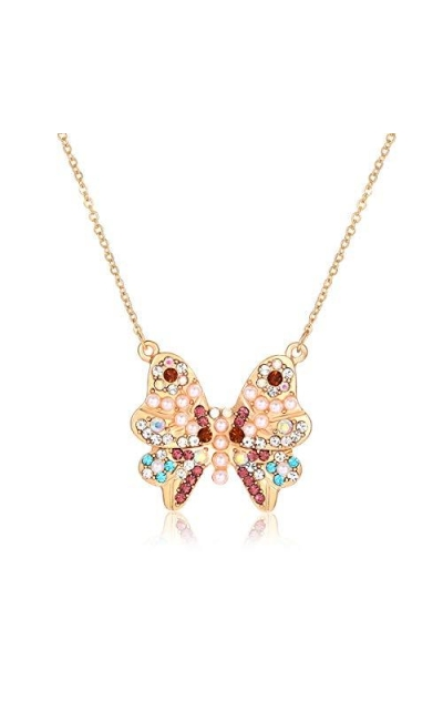 YAHPERN Butterfly Necklace