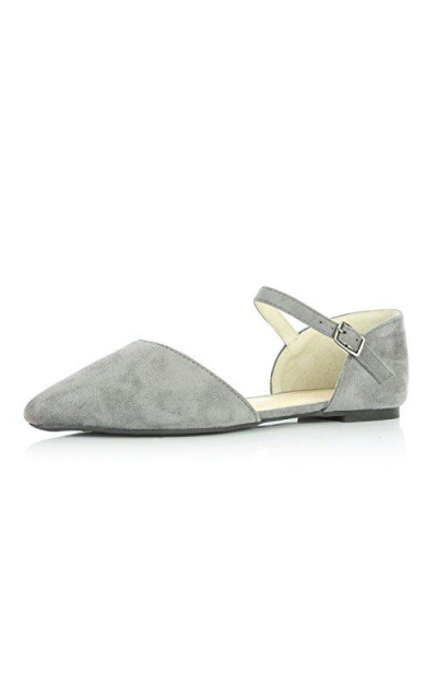 DailyShoes D'Orsay Buckle Ballet Flats