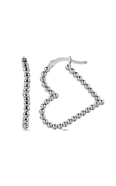LeCalla Sterling Silver Heart Earrings