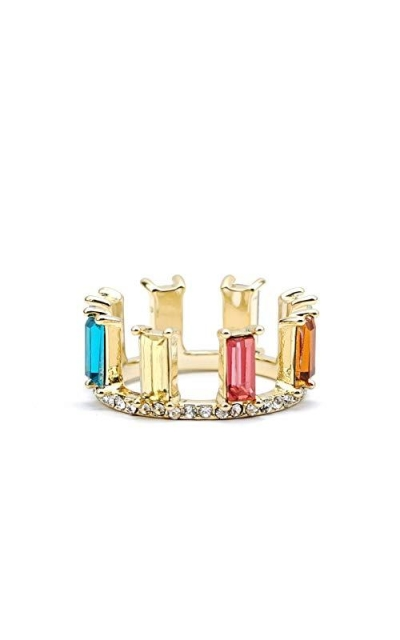 Panjewelry Rainbow Baguette Ring