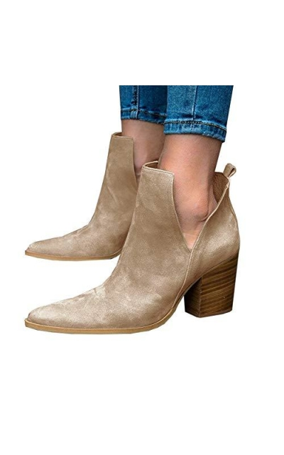LAICIGO Ankle Booties
