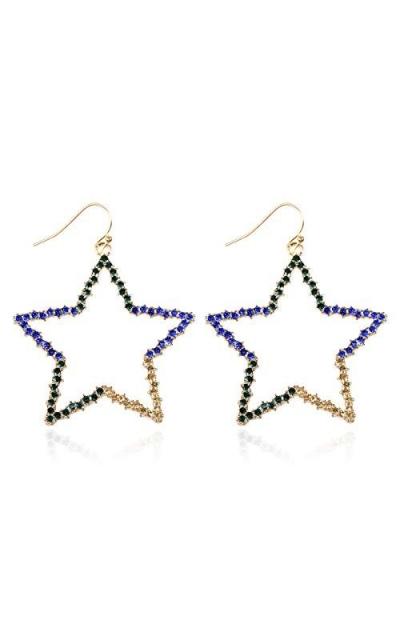 Sparkly Simple Lightweight Geometric Star Earrings