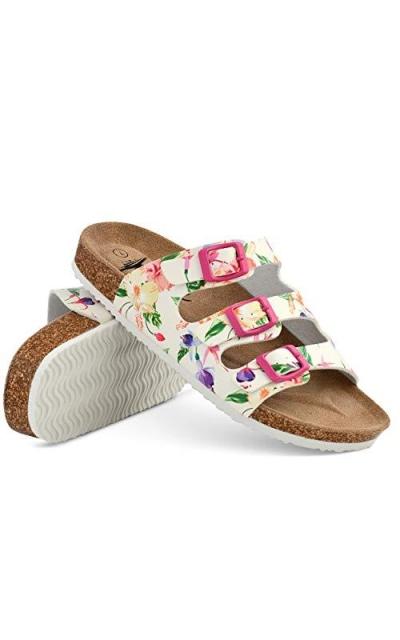 IC LION Floral Cork Sandals