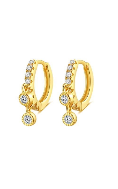 Sterling Huggie Hoop Earrings