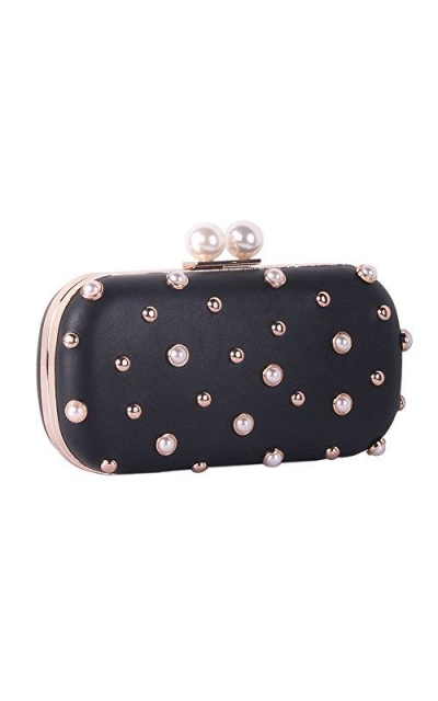 Pearls and Studs Clutch