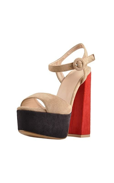 Onlymaker Platform Open Toe Block Chunky Sandals