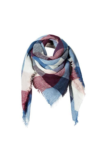 Winter Scarf ADUO Plaid Cashmere Scarf