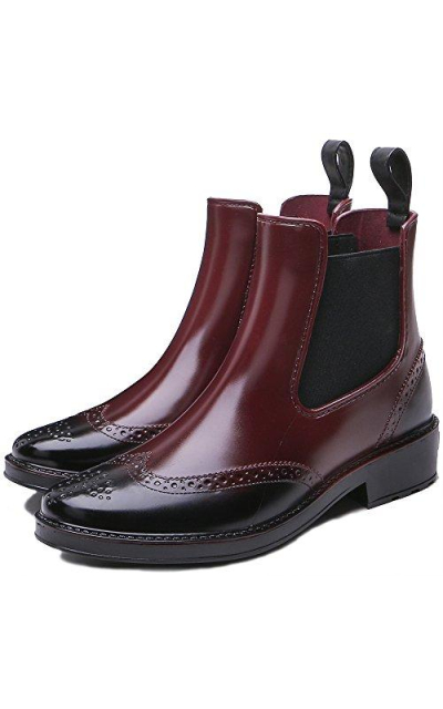 TONGPU Ankle Rubber Rain Boots
