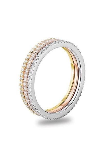 Spoil Cupid Tri Tone Stackable Rings