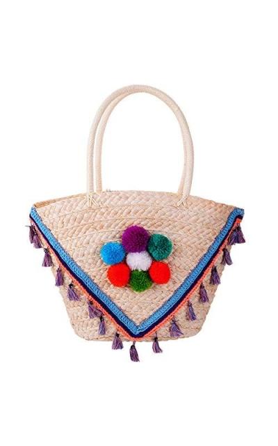 Beach Straw Tote Bag