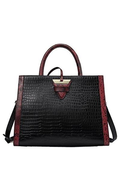Genuine Leather Croc Handbag