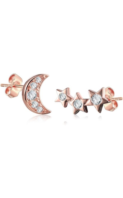 Shooting Star and Moon Stud Set