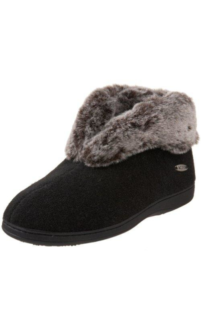 ACORN Faux Chinchilla Slipper Bootie