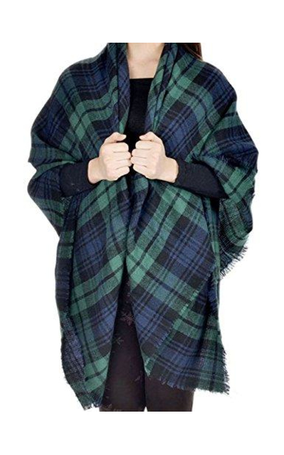 Bess Bridal Plaid Blanket Winter Scarf
