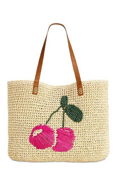 INC International Concepts Fruit Straw Tote