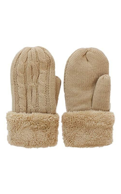Winter Cable Knitted Mittens Gloves