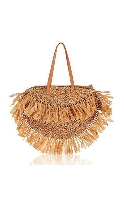 Straw Large Shoulder Bag