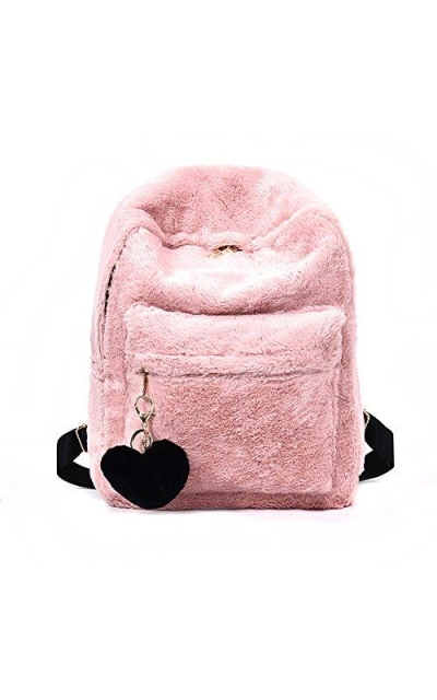 YSMYWM Soft Faux Fur Plush Backpack