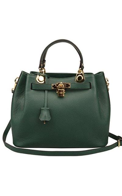 Ainifeel Padlock Bucket Shoulder Handbag