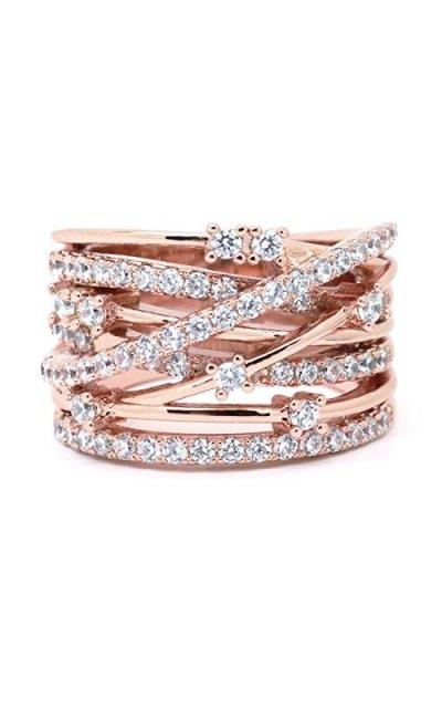 Sparkly CZ Fashion Statement Ring