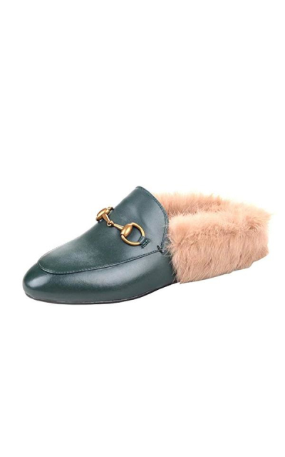 Agodor Furry Loafer Mules