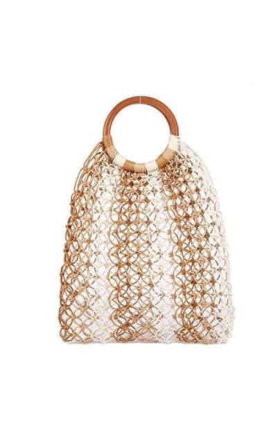 Large Straw Beach Bag