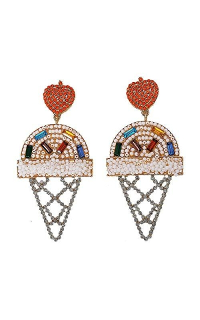 Mesheshe Colorful Beaded Ice Cream Earrings
