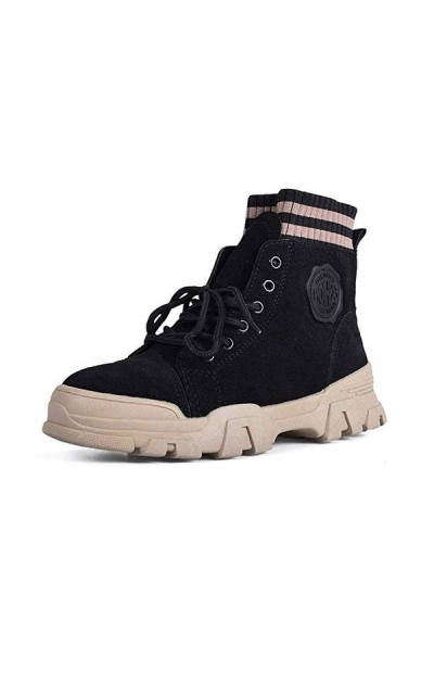 LAKIGE Lace Up Ankle Boot Sneakers