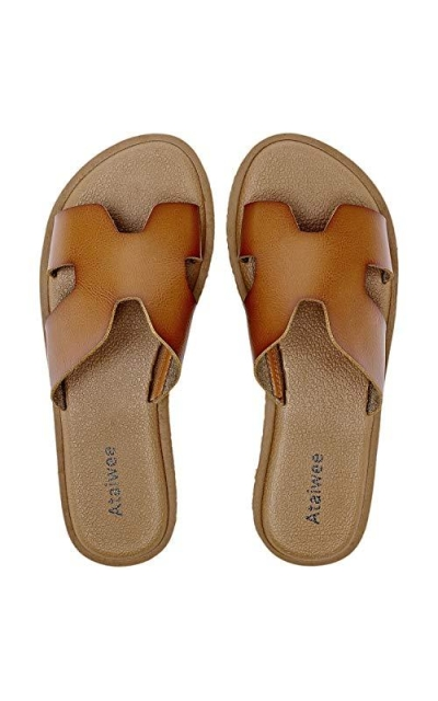 Ataiwee Leather Slip On Sandals