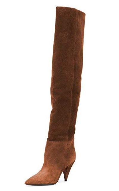 XYD Cone Heel Over The Knee Boots
