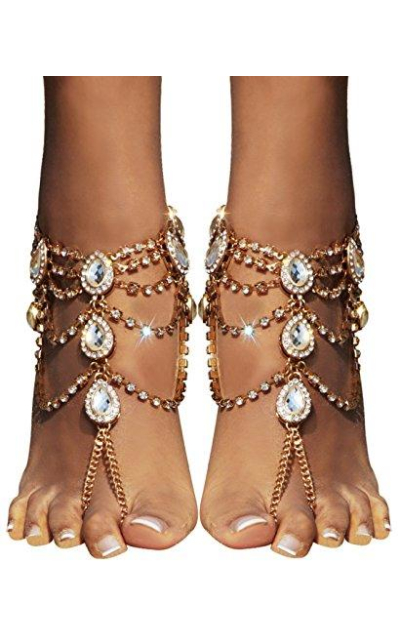 Bienvenu 2Pcs Barefoot Jewelry Anklet
