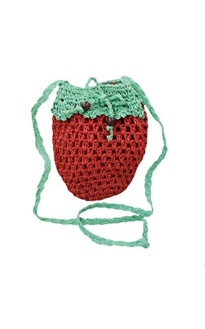 Monique Strawberry Straw Handbag