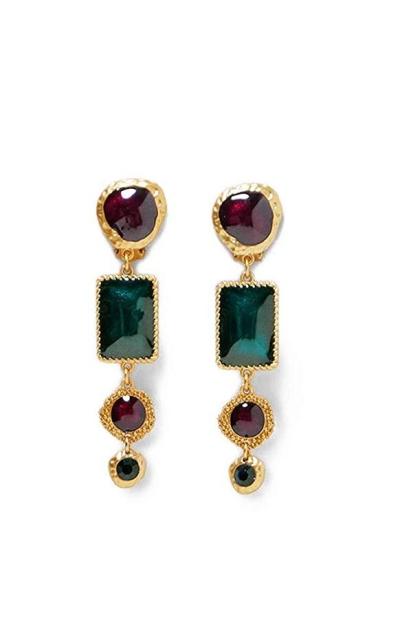 BEST LADY Geometric Crystal Drop Earrings