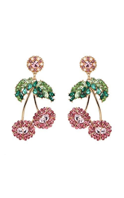Cute Fruit Crystal Drop Earrings