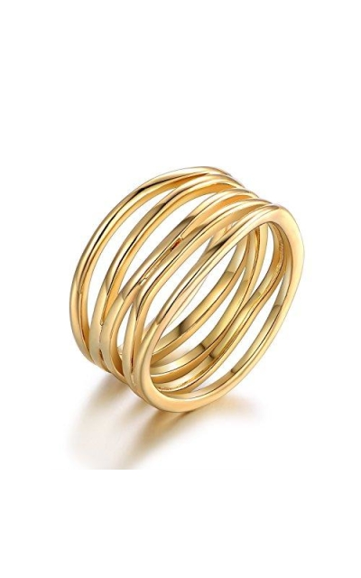Barzel Gold Plated Statement Ring