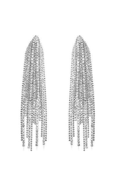 Humble Chic Oversized Darling Waterfall Tassel Earrings