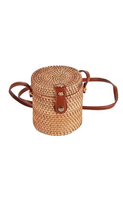 handwoven straw bag