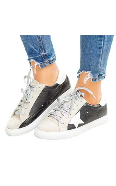 Kathemoi Low Top Round Toe Star Sneakers