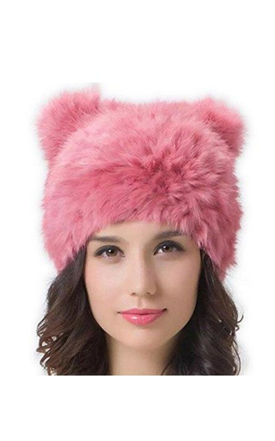 Ru Cat Ear Hat Real Rabbit Fur Hat