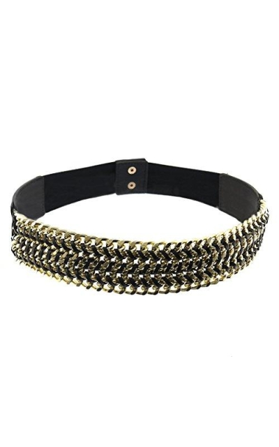 BlingKicks Interwoven Multi Layer Chain Stretch Belt