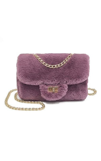 Classical Soft Envelope Faux Fur Crossbody Bag