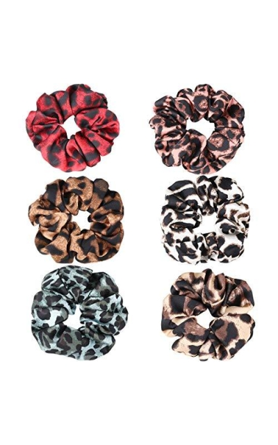 Ondder 6 Pack Leopard Scrunchies