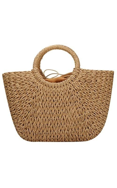 Hand-woven Straw Tote
